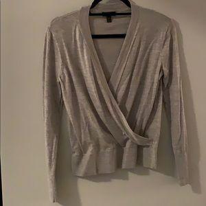 JCrew merino wool front wrap sweater